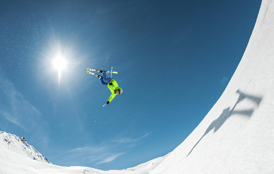 Action Photograph - Backcountry Backflip by Eric Verbiest