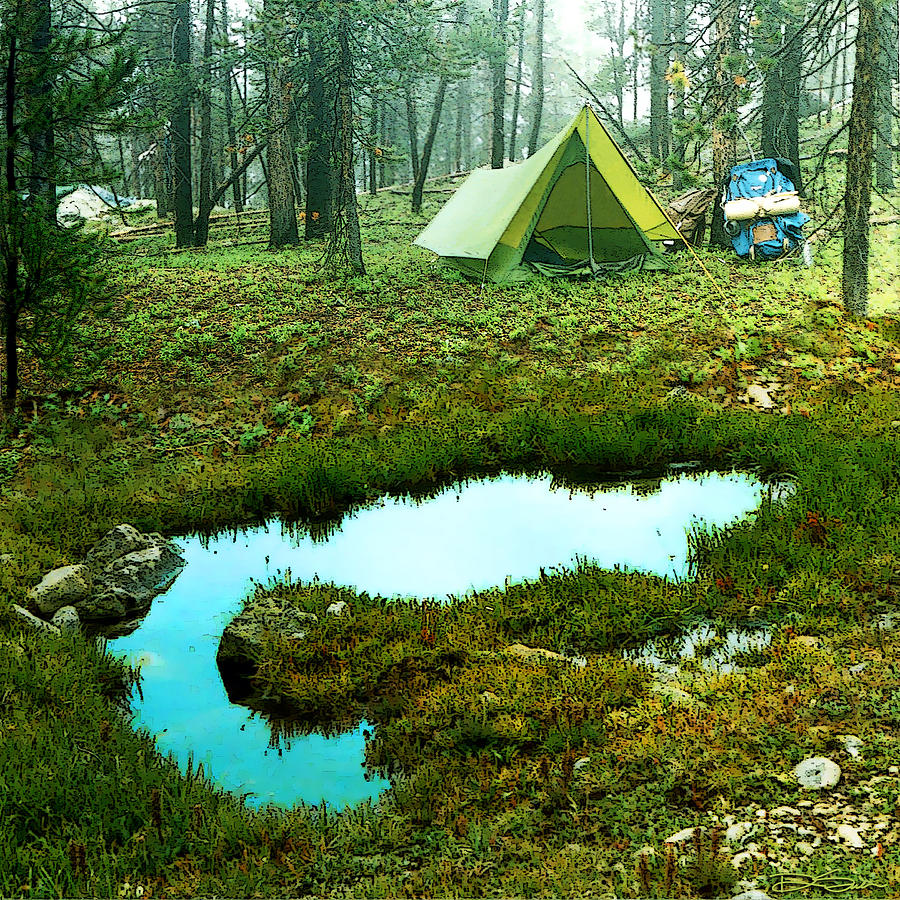 Backcountry Photograph - Backcountry Camp by Ric Soulen