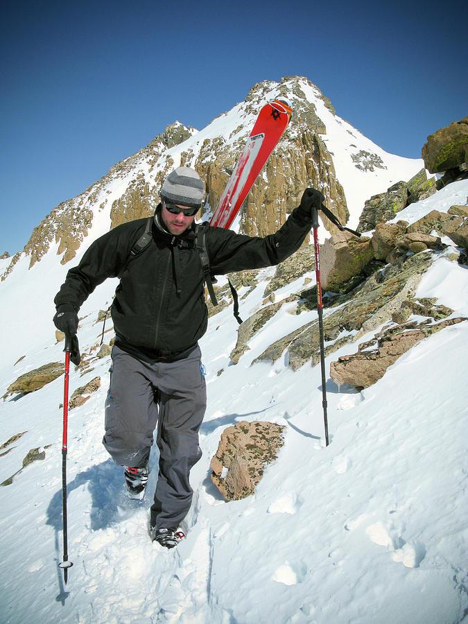 Adventure Photograph - Backcountry Skiing, Citadel Peak, Co by Randall Levensaler