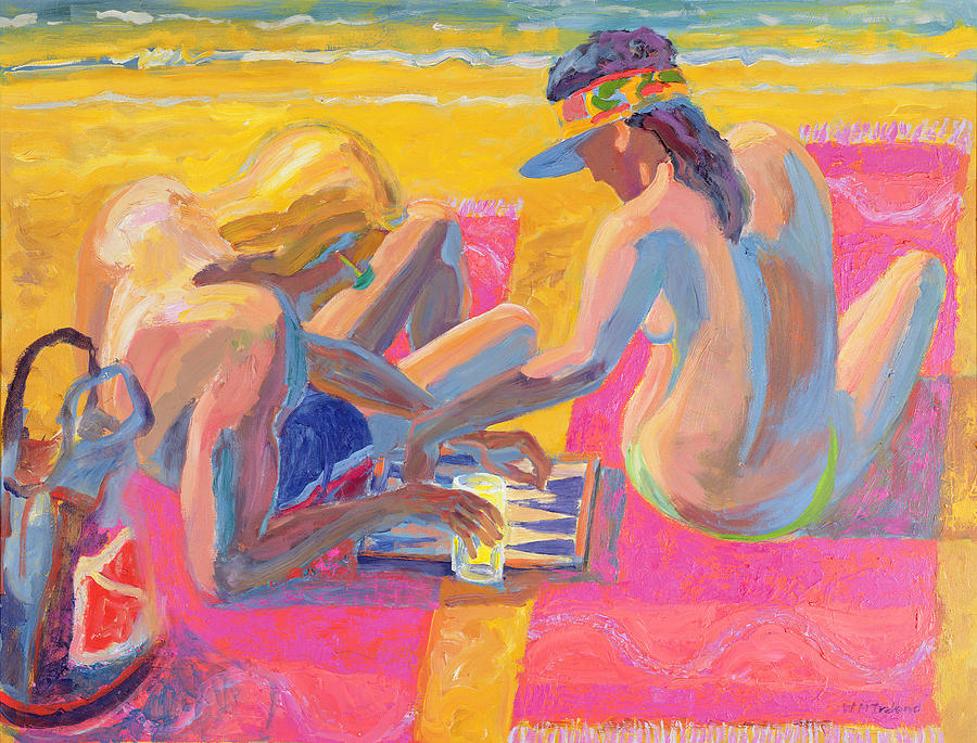 Couple Painting - Backgammon by William Ireland