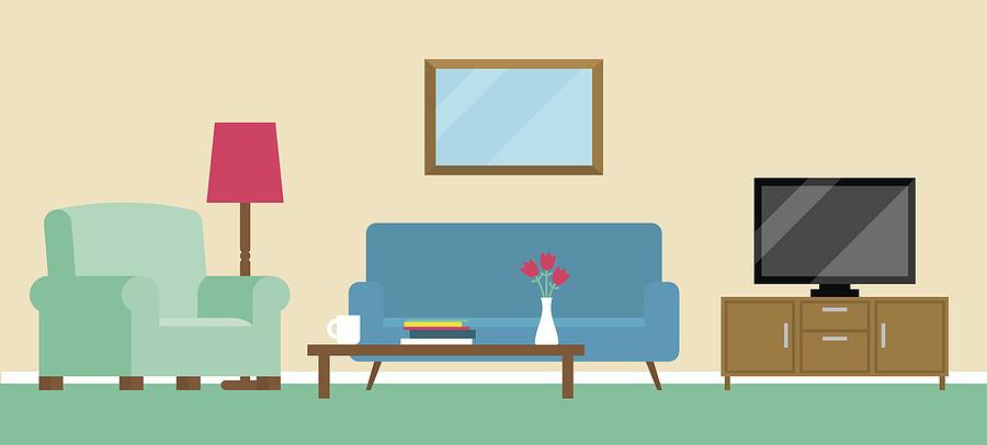 Background Illustration Of Living Room By Monkeybusinessimages