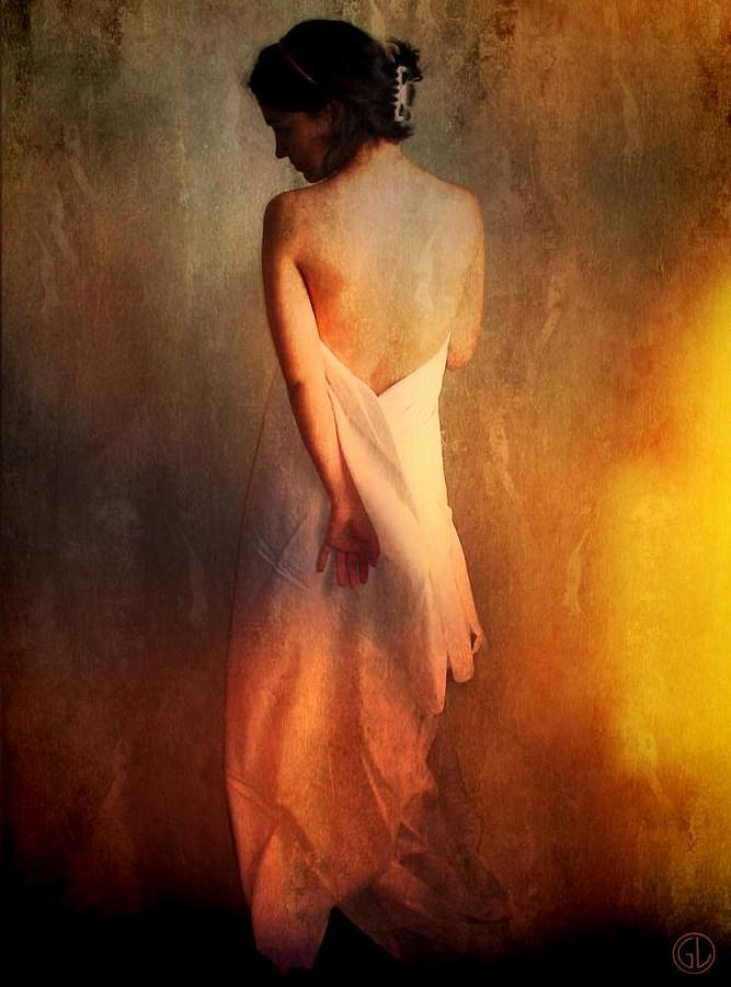 Woman Female Digital Art - Backlight by Gun Legler