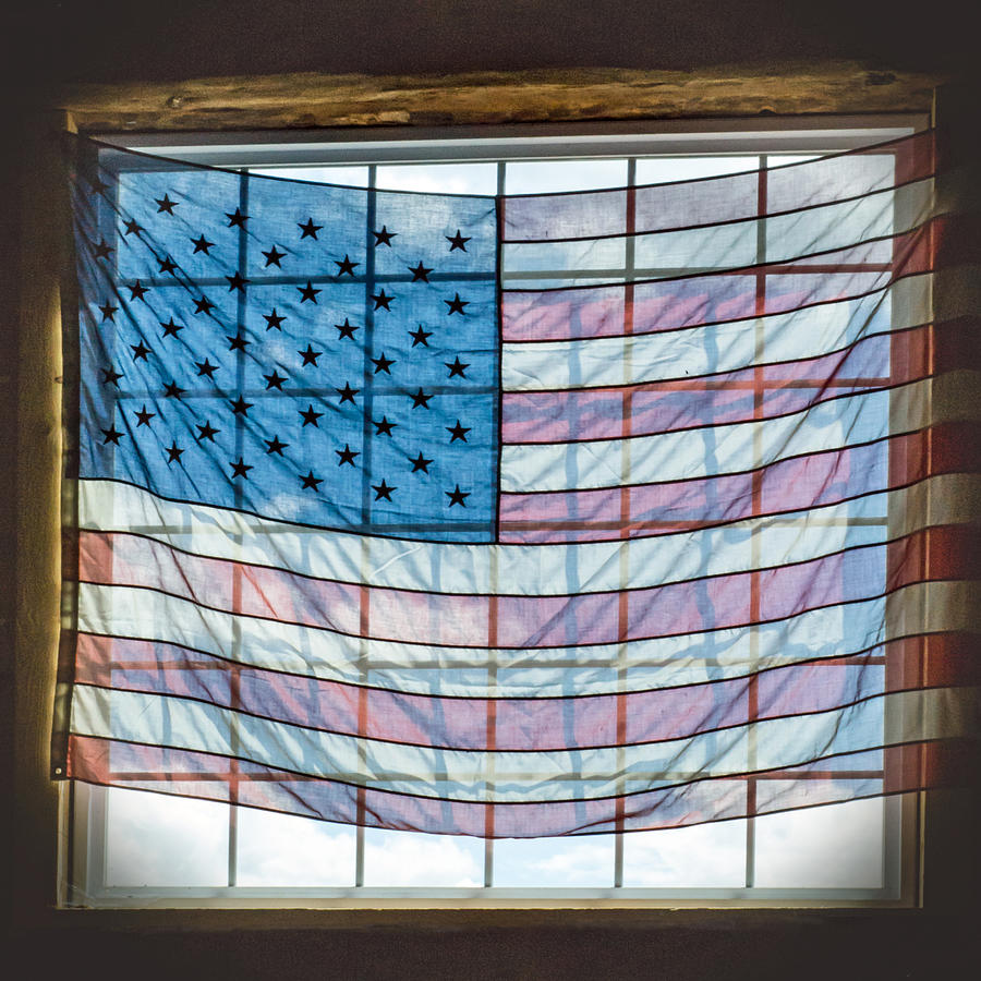 Backlit American Flag by Photographic Arts And Design Studio