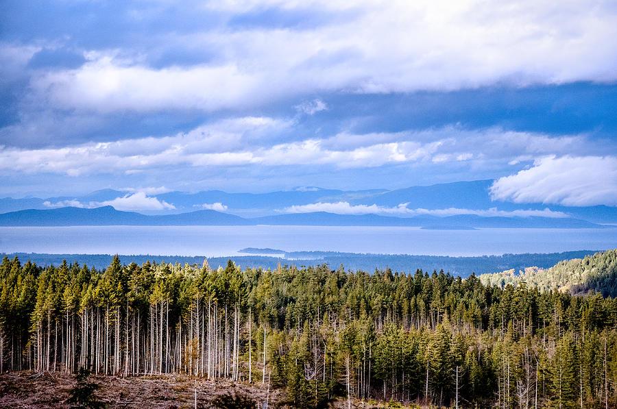 Johnstone Strait High Elevation View Photograph