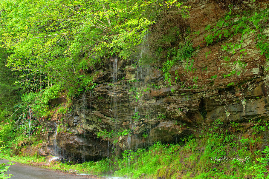 Feature Photograph - Backroads Waterfall In West Virginia by Paulette B Wright