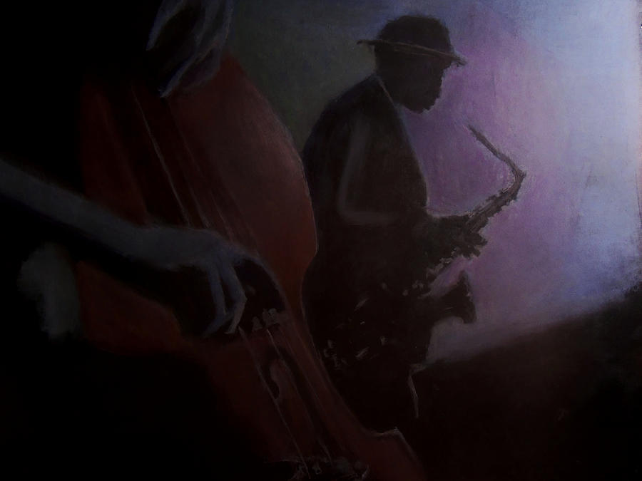 Bass Painting - Backroom Blues by D Rogale