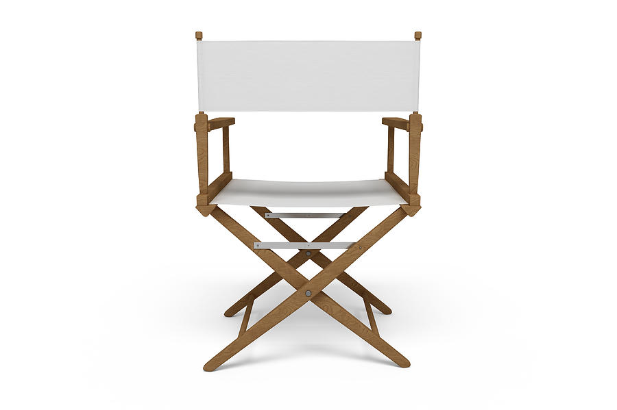Backside Of A Directors Chair - Wooden / White (isolated) Photograph by Imaginima
