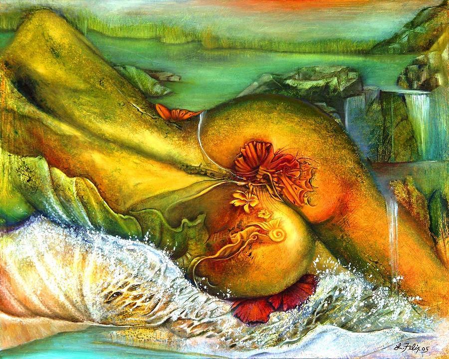 Nude Painting - Backsplash by Lori Felix