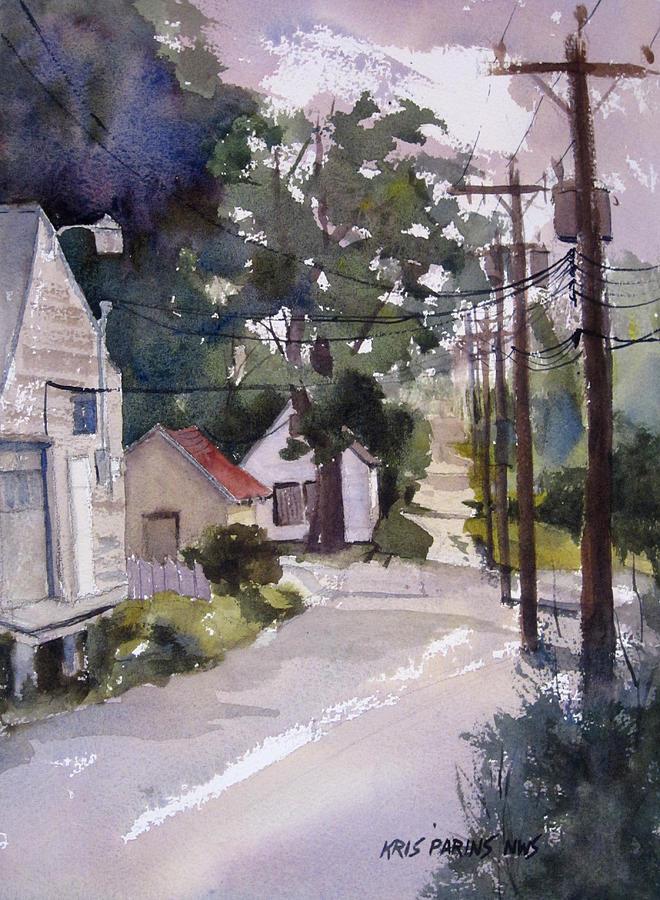 Kris Parins Painting - Backstreet by Kris Parins