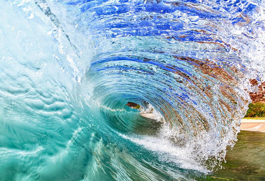 Surf Photograph - Backwash Flare by Gregg  Daniels