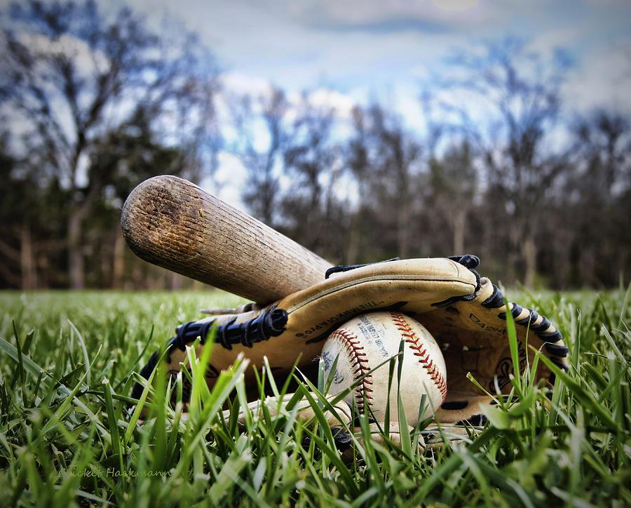 Baseball Photograph - Backyard Baseball Memories by Cricket Hackmann