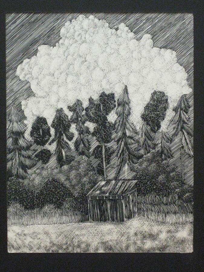Shed Relief - Backyard by Eleanor Hawley
