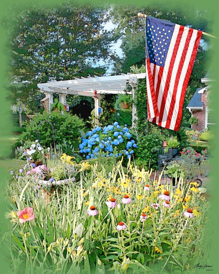 Backyard Paradise Digital Art