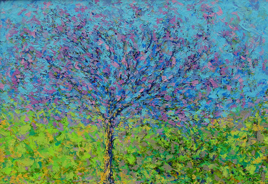 Tree Painting - Purple Tree by Kat Griffin