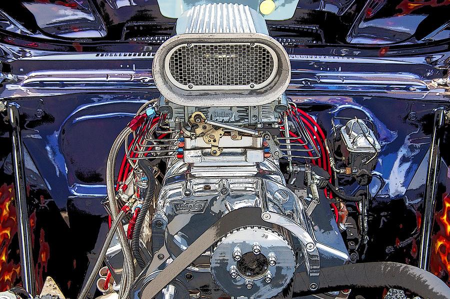 V8 Photograph - Bad Boy Blower Motor by Rich Franco