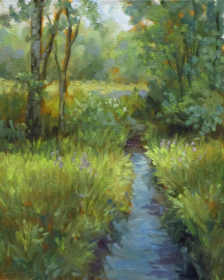 Creel Painting - Bad Creek by Nora Sallows