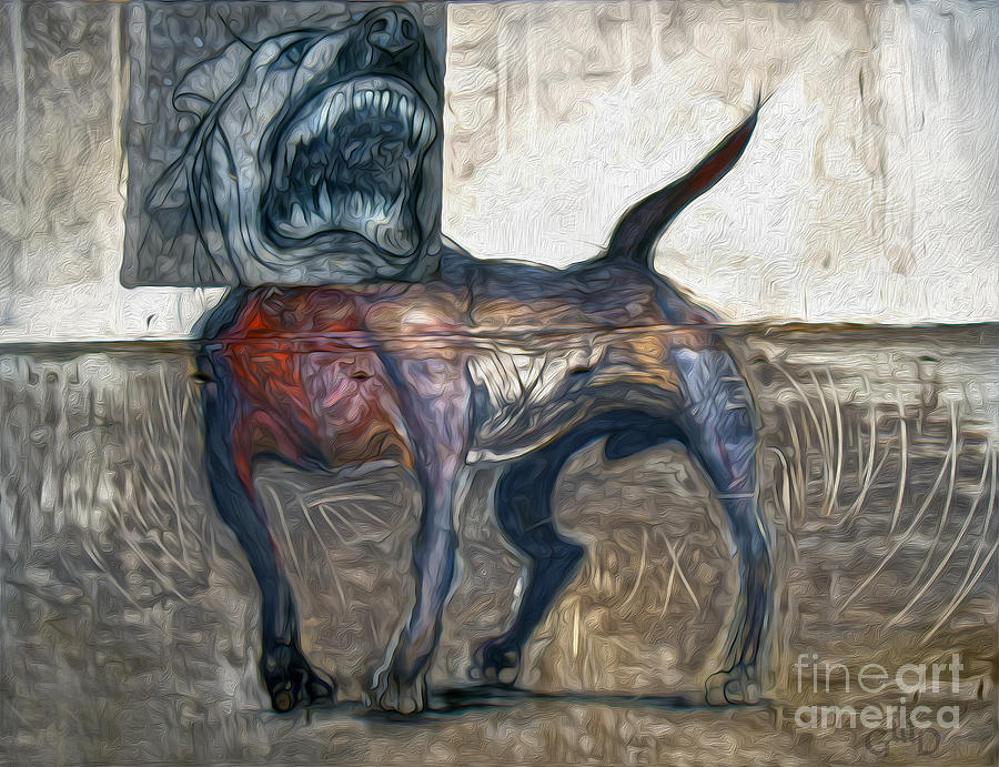 Dog Painting - Bad Dog by Gregory Dyer