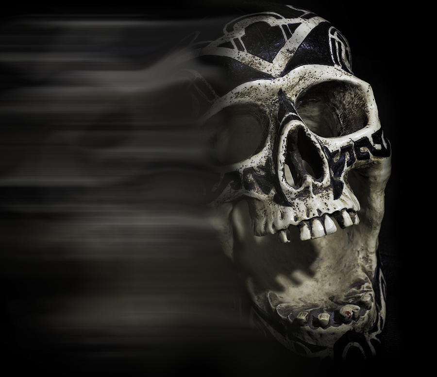 Skull Photograph - Bad Dreams  by Rollie Robles