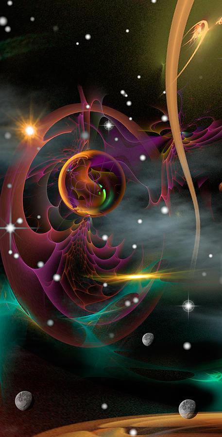 Space Digital Art - Bad Moons Arisin by Phil Sadler