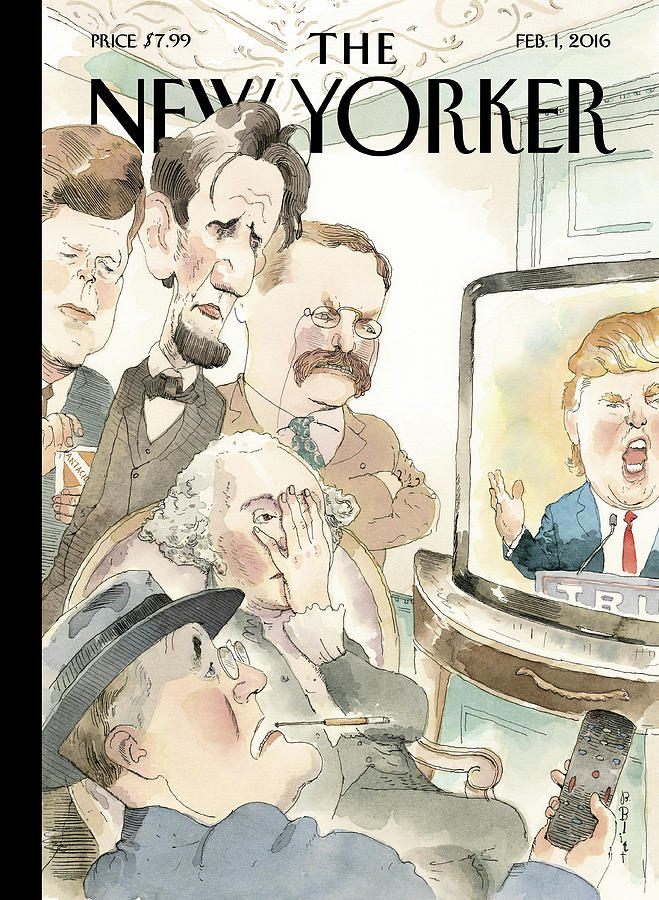 Presidents Painting - Bad Reception by Barry Blitt