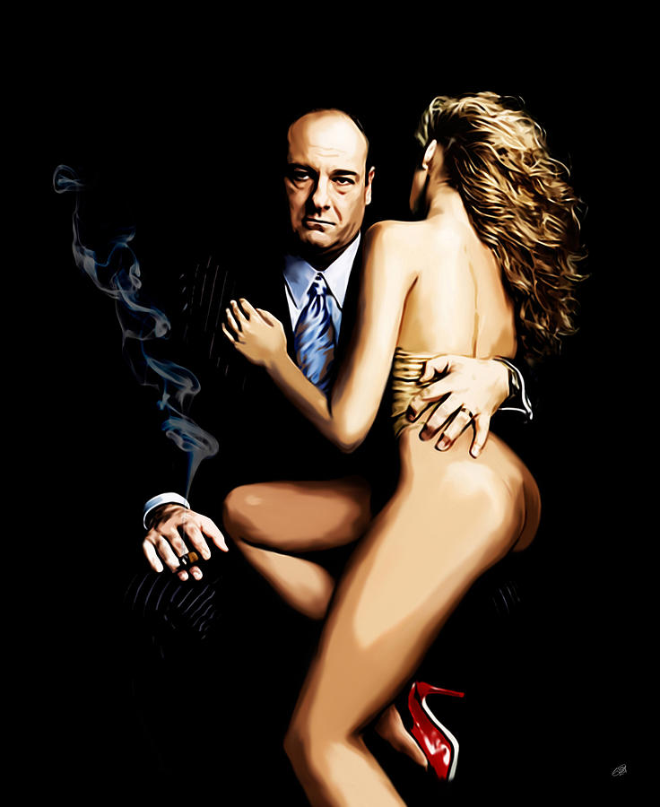 Sopranos Painting - Badabing by Laurence Adamson