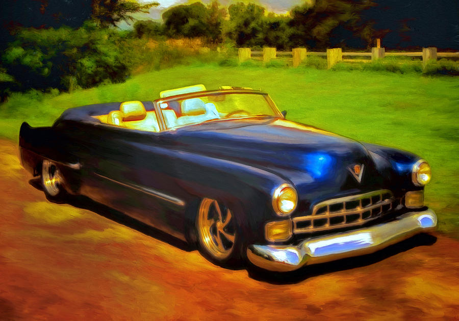 Cadillac Painting - Badass Cad by Michael Pickett
