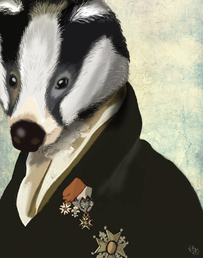 Hero Posters Digital Art - Badger The Hero by Kelly McLaughlan