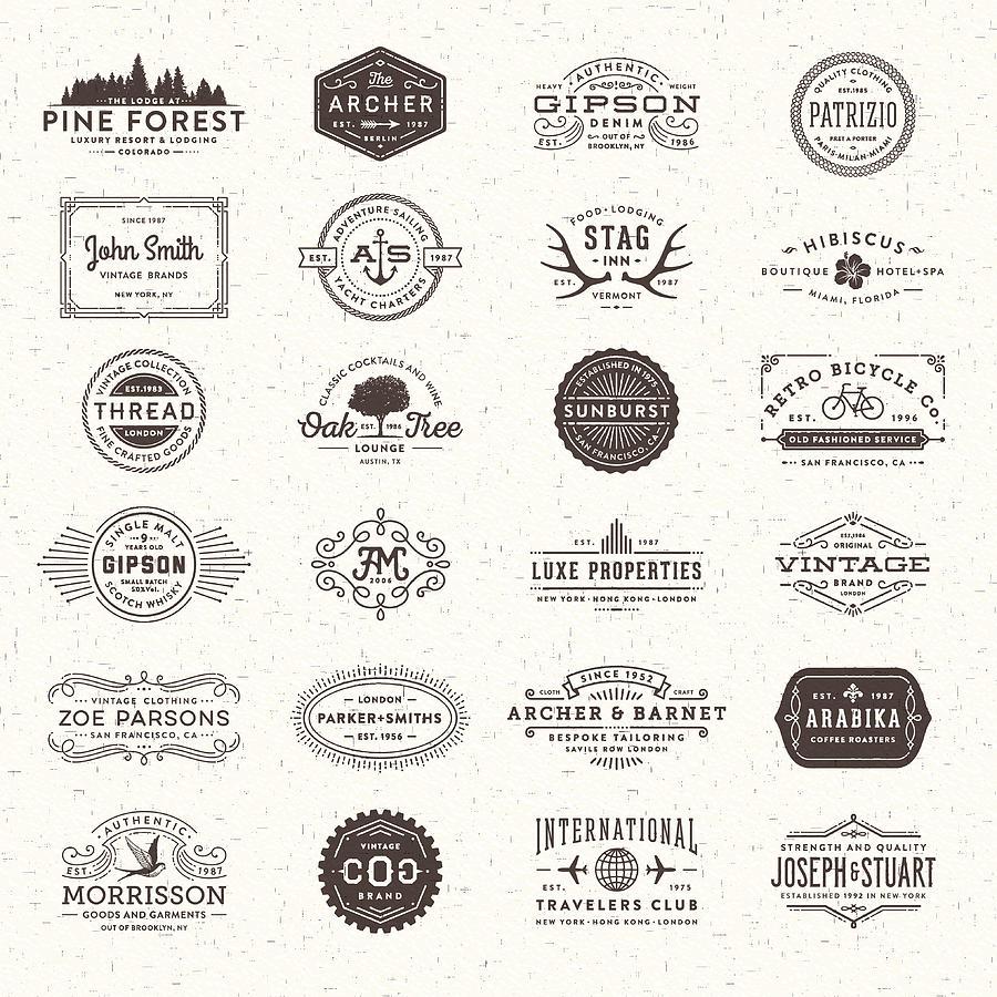Badges, Labels And Frames Drawing by Aleksandarvelasevic
