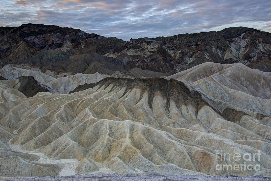 Arid Photograph - Badlands At Sunrise. Death Valley by Juli Scalzi