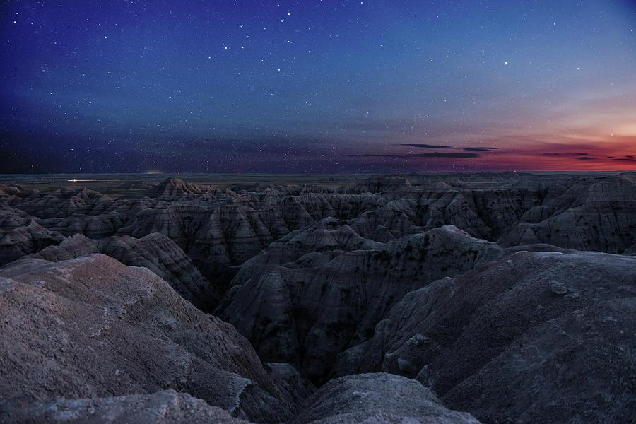 Badlands Night Sky Photograph by Tom Olson
