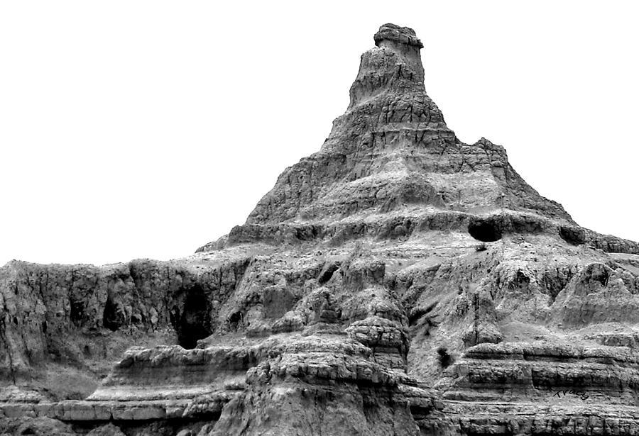 Badlands Photograph - Badlands by Tracy Mendez