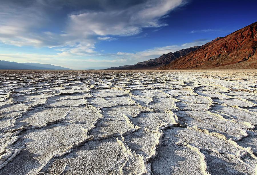 Badwater Salt Flats Before Sunset Photograph by David Toussaint