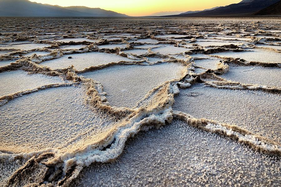 Badwater Sunset - Death Valley Photograph by Joao Figueiredo