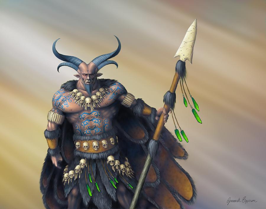 Un'illustrazione di Baylor, re dei Fomori