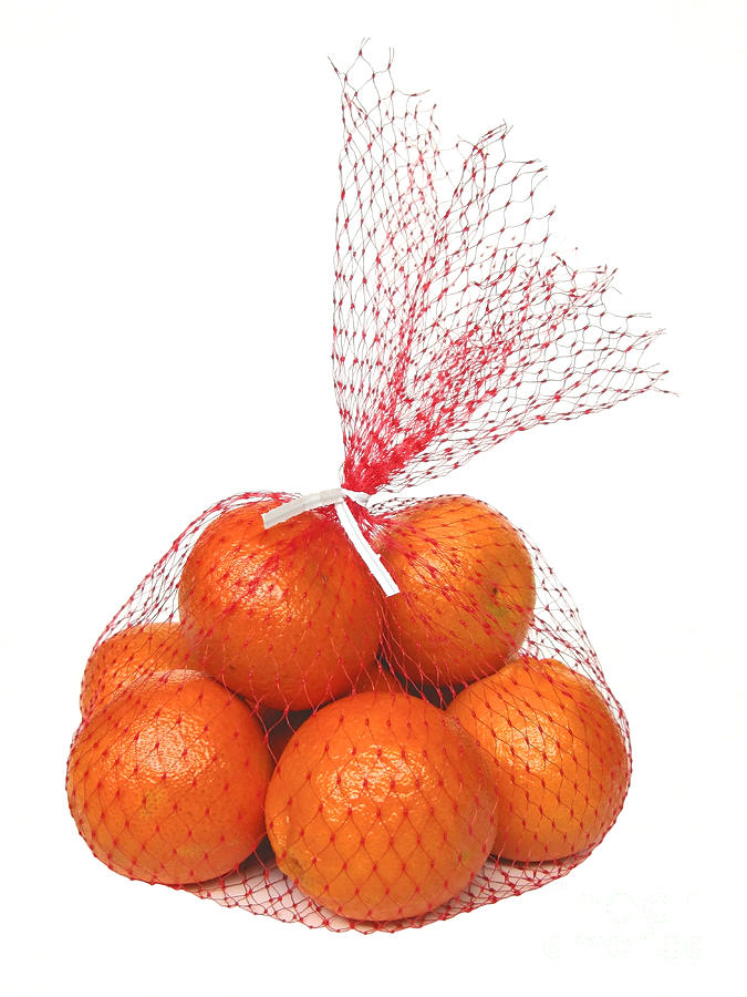 Oranges Photograph - Bag Of Oranges by Ann Horn