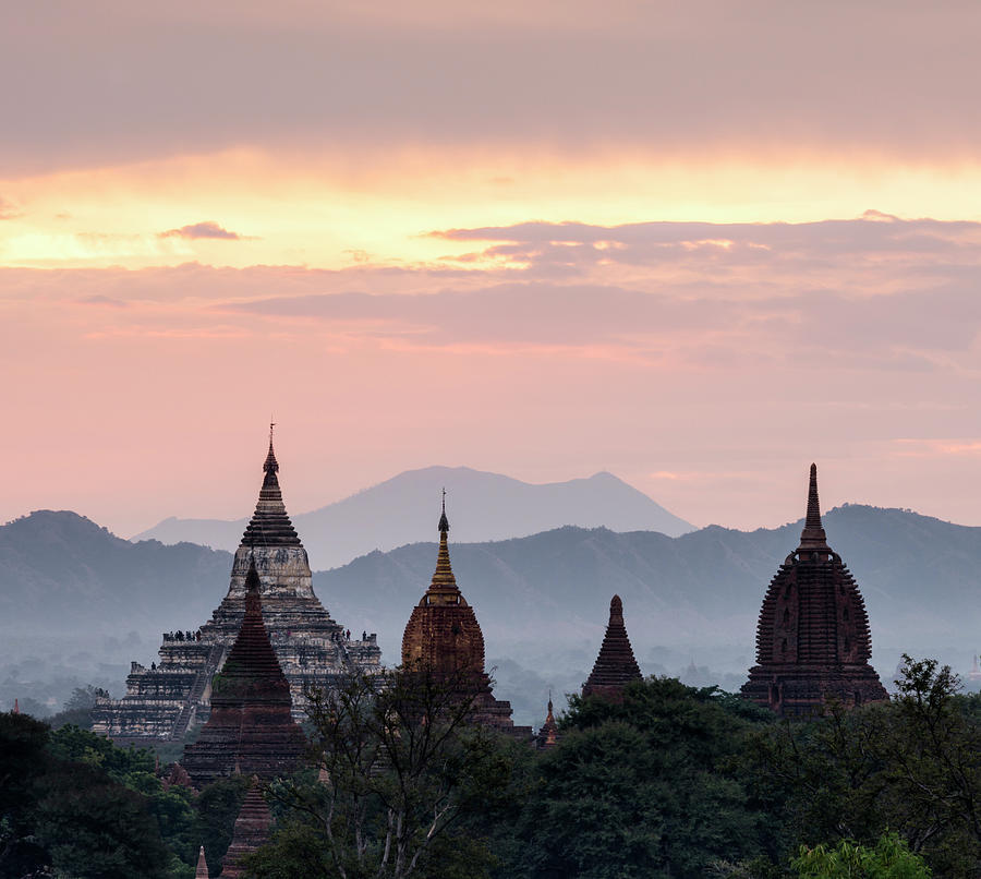 Bagan, Ancient Temple At Sunrise Photograph by Martin Puddy