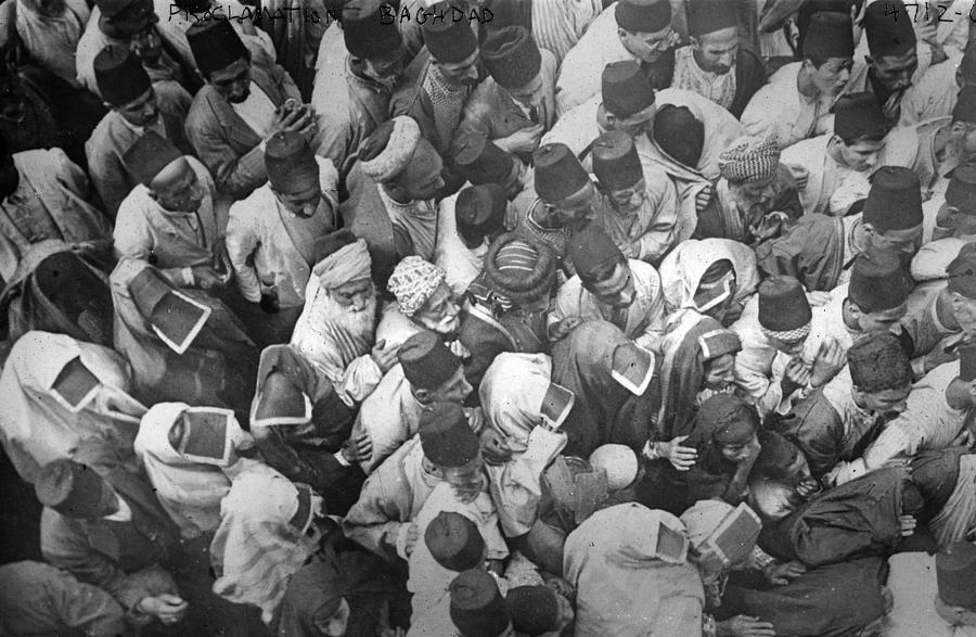 20th Century Photograph - Baghdad Crowd by Granger