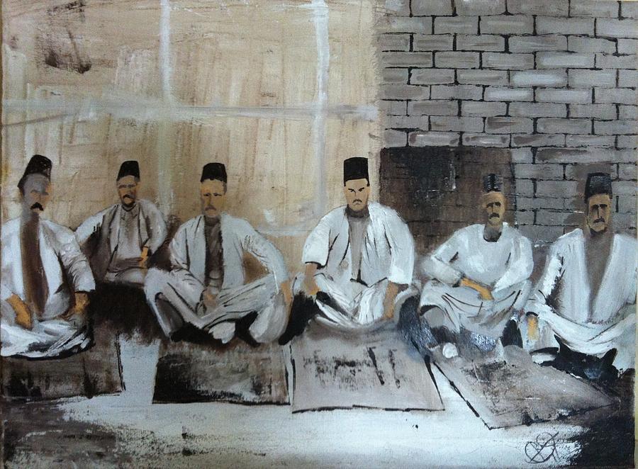 Jewish Painting - Baghdadi Jews 1920s by Rami Besancon