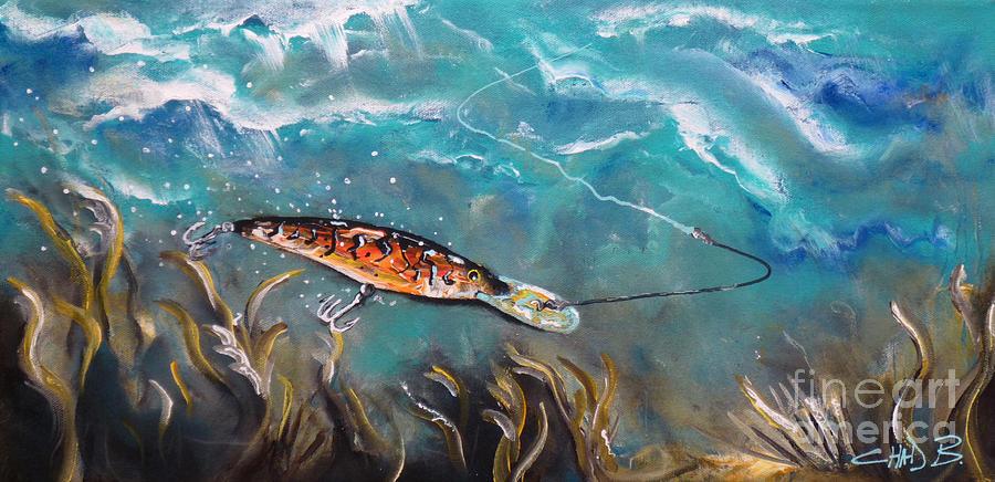 Fishing Painting - Bagleys Deep Dive by Chad Berglund