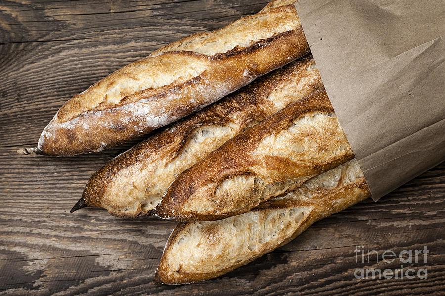 Bread Photograph - Baguettes Bread by Elena Elisseeva