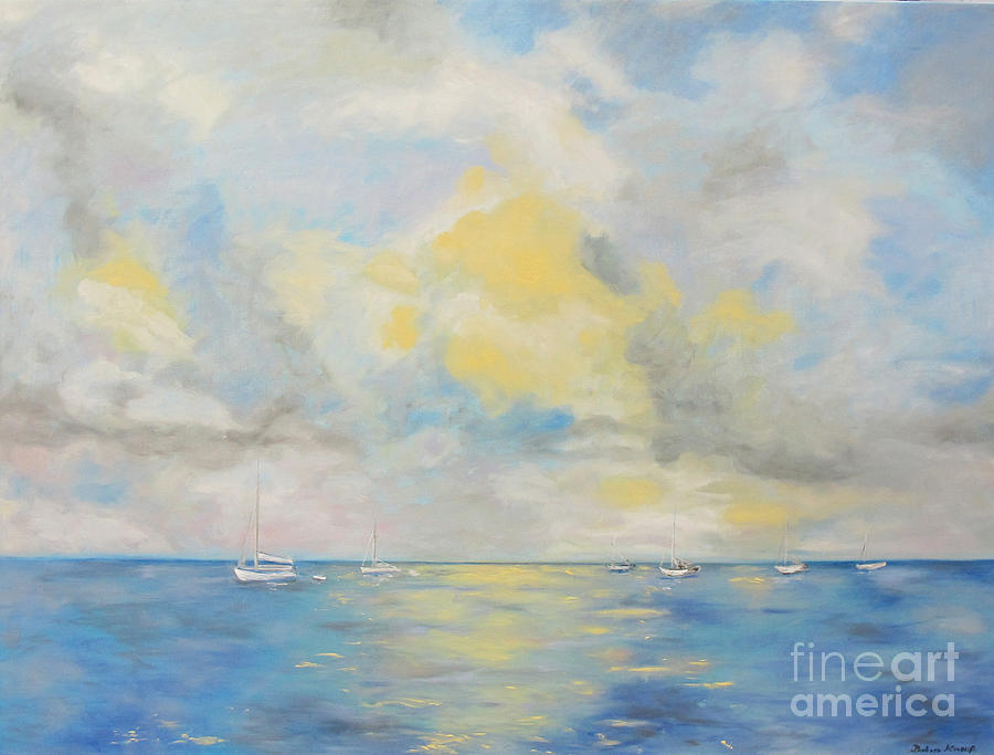 Seascape Painting - Bahamian Skies by Barbara Anna Knauf