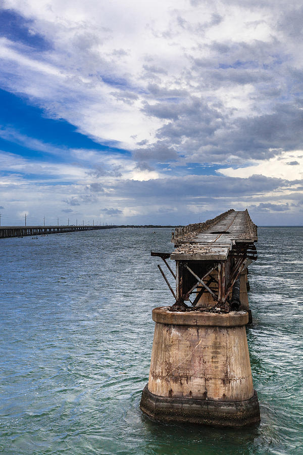 Bahia Honda Key Photograph - Bahia Honda Bridge By Day by Dan Vidal