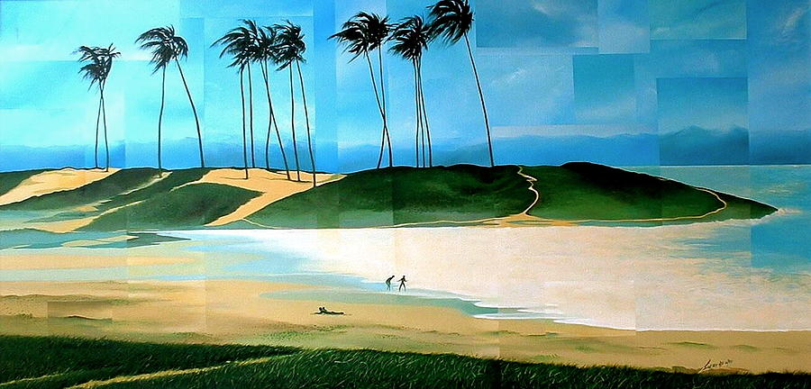 Abstract Painting - Bahia by Laurend Doumba