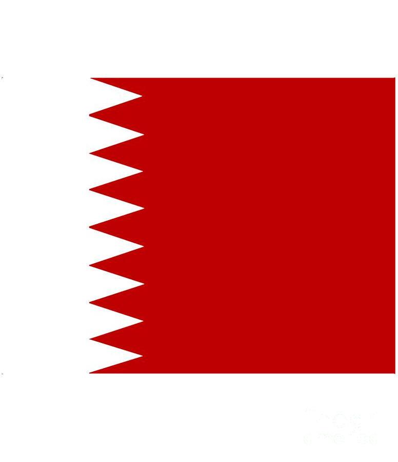 Bahrain Digital Art - Bahrain Flag by Frederick Holiday