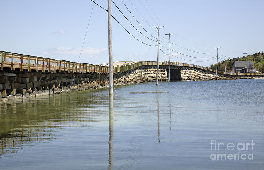 Landscape  Photograph - Bailey Island Bridge - Harpswell Maine Usa by Erin Paul Donovan