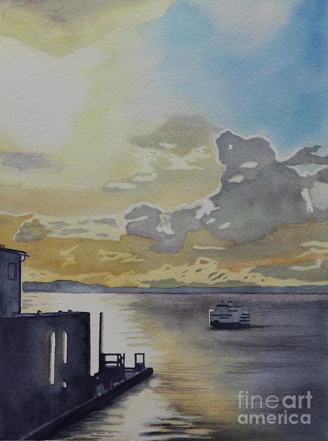 Bainbridge Ferry Painting - Bainbridge Ferry by Amanda Schuster