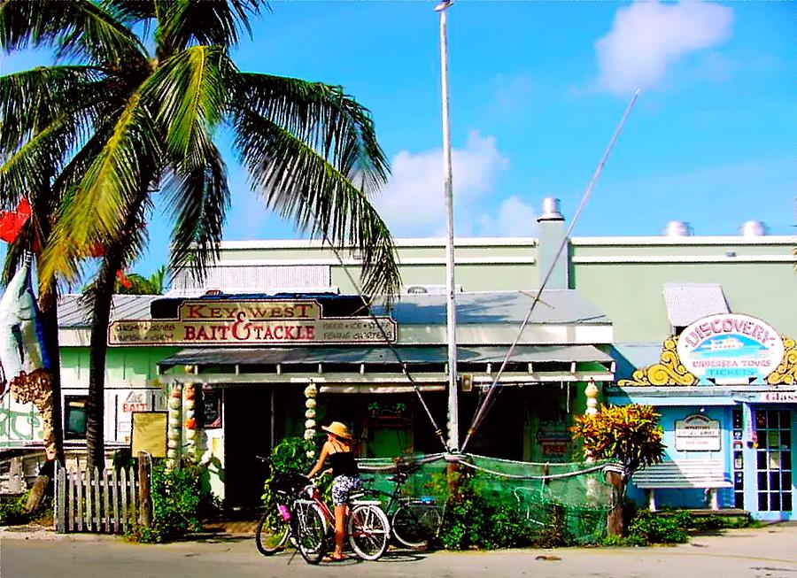 Nj Painting - Bait And Tackle Key West by Iconic Images Art Gallery David Pucciarelli