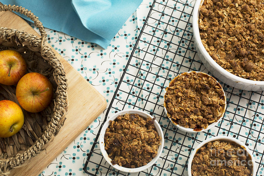 Baked Apple Crumble Photograph