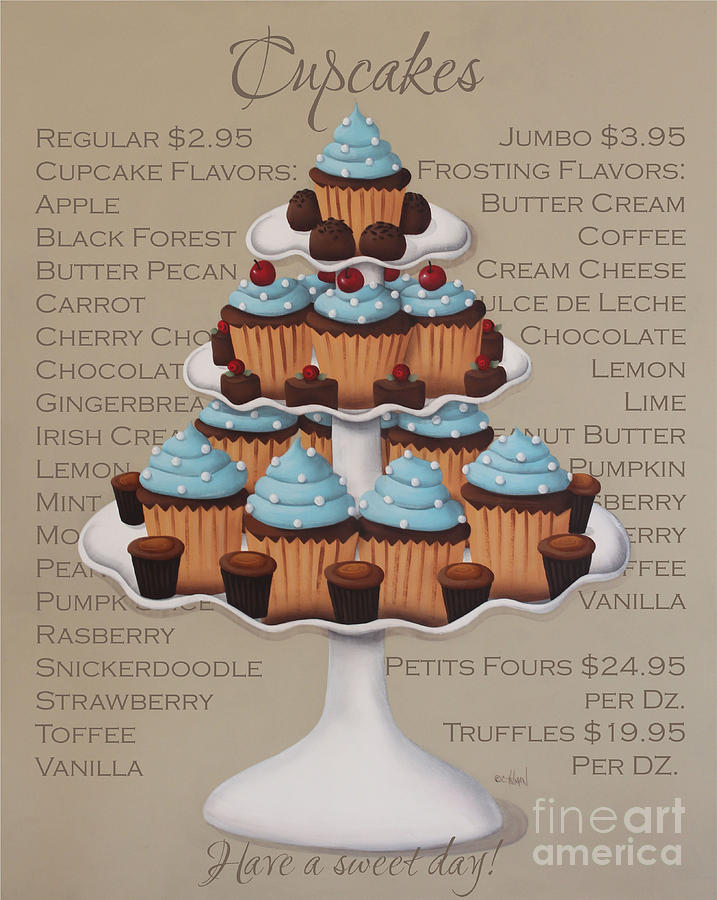 Cupcake Painting - Baked Fresh Daily by Catherine Holman