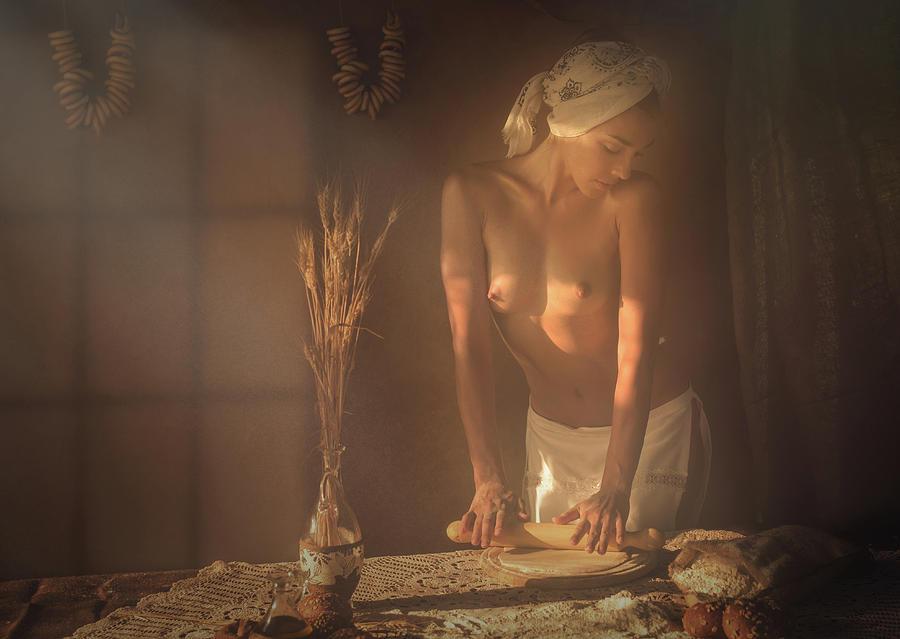 Fine Art Nude Photograph - Baker by Evgeny Loza